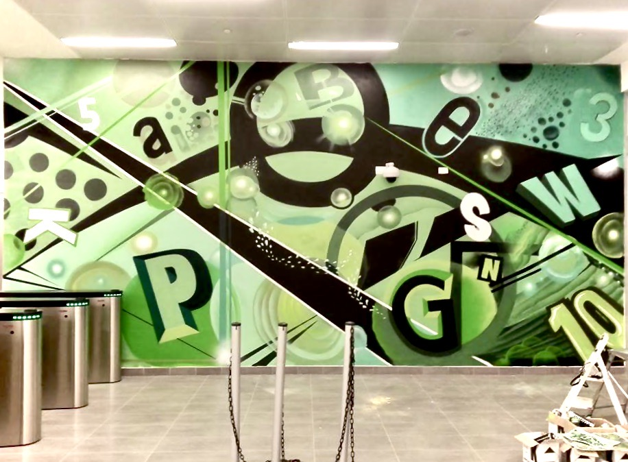Murales su Commissione per interni uffici - streetartyep.com